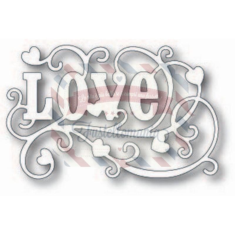 Fustella metallica Tutti Designs Swirly Love